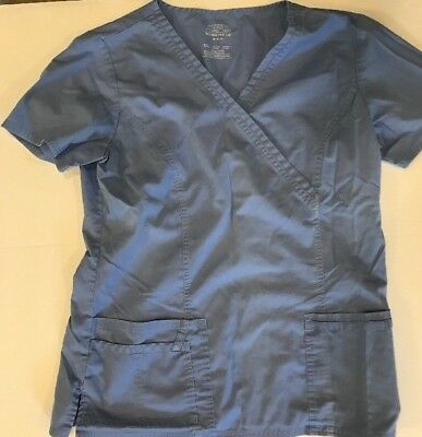 Authentic Cherokee Scrub Top & Butter-Soft Scrub Top-unknown size-Blue Color