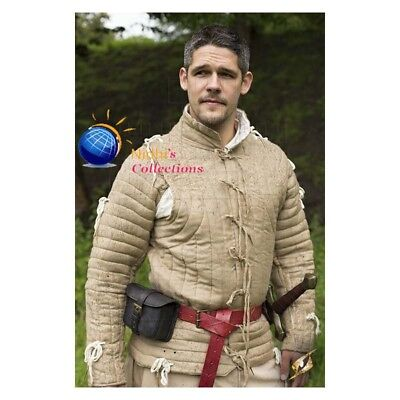 Thick padded Medieval Gambeson Jacket COSTUMES DRESS SCA coat Aketon vest Armor