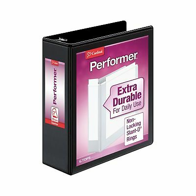 Cardinal Performer ClearVue Non-Locking Slant-D Ring Binder 3-Inch Black (176...