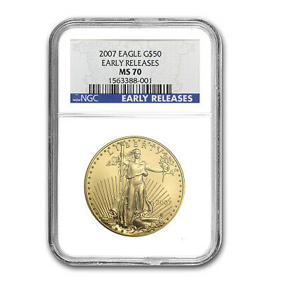 2007 1 oz Gold American Eagle MS-70 NGC (Early Releases) - SKU #25973