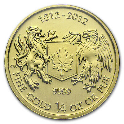 2012 Canada 1/4 oz Gold $10 War of 1812 BU - SKU #78440