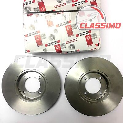 FORD CORTINA Mk5 1.6 2x Brake Discs Solid Front 79 to 82 247.7mm Set QH Pair