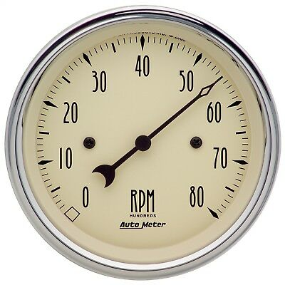 "AutoMeter 1890 Antique Beige Electric Tachometer 3 3/8"" 0-8000 RPM"