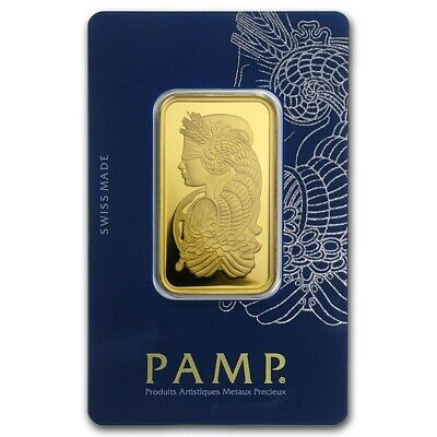 1 oz Gold Bar PAMP Suisse Lady Fortuna Veriscan (In Assay) - SKU #88907