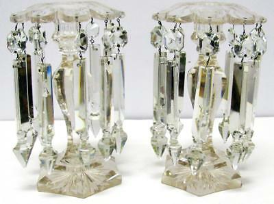 Pair of Crystal Candelabra Candlesticks from Jimmy Stewart & Lombard Movie Prop