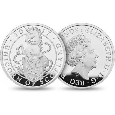 2017 1oz Queen's Beast Unicorn Scotland Proof Silver Bullion Coin Royal Mint
