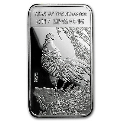 5 oz Silver Bar - APMEX (2017 Year of the Rooster) - SKU #101667