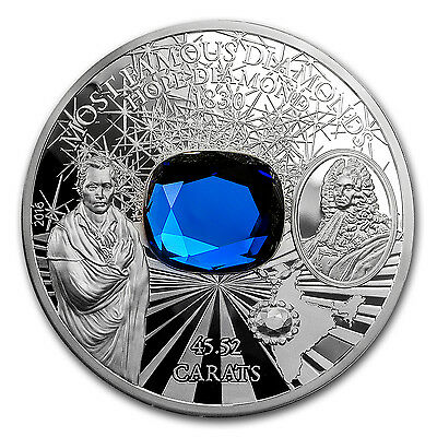 2016 Cook Islands Silver Famous Diamonds (Hope Diamond) - SKU #104075