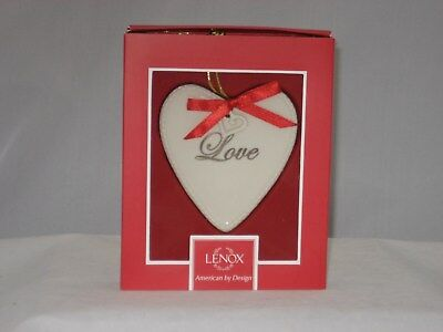 Lenox Expressions From The Heart Love Ornament  (853716) NIB