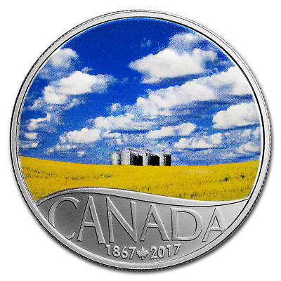 2017 Canada 1/2 oz Ag $10 Celebrating Canada's 150th Canola Field - SKU #105256