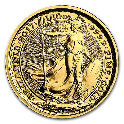 2017 Great Britain Gold 1/10 oz Britannia BU - SKU #104870