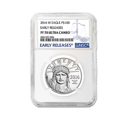 2016-W 1 oz Proof Platinum American Eagle PF-70 NGC (ER) - SKU #98494