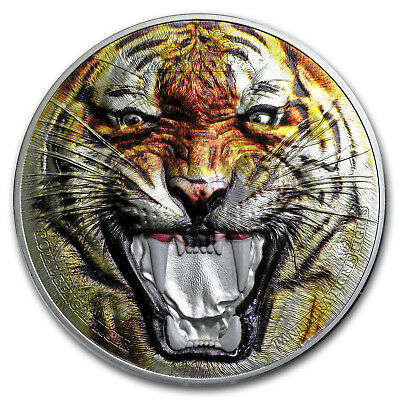 2017 Tanzania 2 oz Silver Rare Wildlife (Royal Bengal Tiger) - SKU #151924