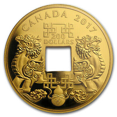 2017 1 oz Proof Gold $200 Feng Shui Good Luck Charms - SKU #152300