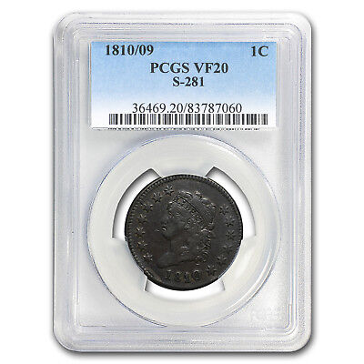 1810/09 Large Cent Fine VF-20 BN PCGS (S-281) - SKU #150823
