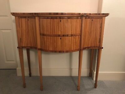Reproduction Antique Satin Wood Serpentine Sideboard