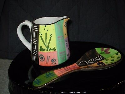 Handmade in Africa by Julian Keyser Creamer and Spoon Rest Set