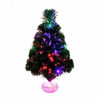 45cm Fiber Optic Christmas Tree w/ LED Colorful Night Light Lamp Gift Home Decor