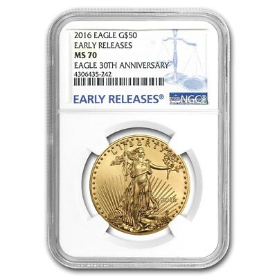 2016 1 oz Gold American Eagle MS-70 NGC (Early Releases) - SKU #94005