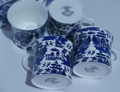 Palace Mug Fine Bone China Stoke-On-Trent Set of 4 Blue Willow - Blue & White 2