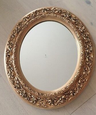 French Style Beautiful Decorated Gold Gilded Frame Mirror, Frame Size 65 X55 Cm