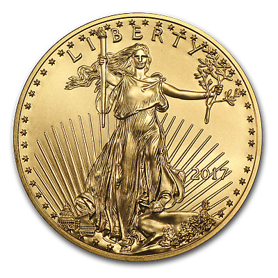 2017 1/10 oz Gold American Eagle BU - SKU #102258