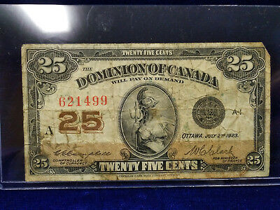 1923 Dominion of Canada 25 Cents Fractional Currency (Lot #2)