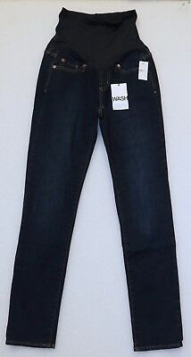GAP MATERNITY JEANS AUTHENTIC REAL STRAIGHT DARK INDIGO BLUE NEW SIZE 26, or 27
