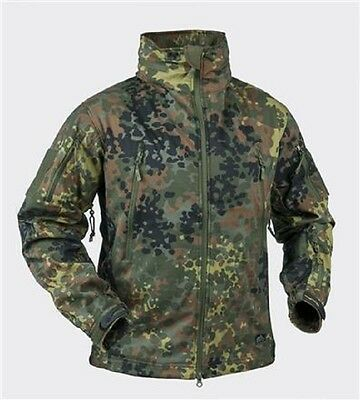 Helikon Tex GUNFIGHTER SoftShell Jacke Outdoor Jacket German BW Flecktarn Large