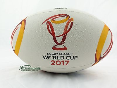 NEW Steeden 2017 Rugby League World Cup All Nations Logo Ball Size 5 (Full Size)
