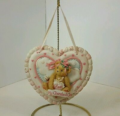 Enesco Cherished Teddies My Cherished One Heart Plaque 1994 Priscilla Hillman