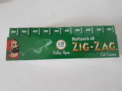 1 5 10 25 50 Zig Zag Green Smoking Cigarette Rolling Papers Free & Fast Dispatch
