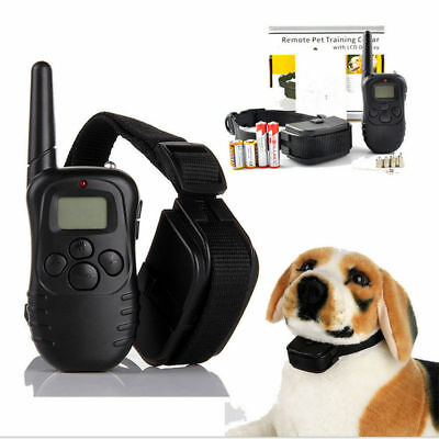 Pet Dog Training Collar Rechargeable Electric LCD 100LV Shock Training Collar