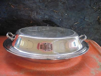 """ANTIQUE GORHAM SILVERPLATE COVERED TUREEN Y426/4..10.75""""x7.5""""x3.5""""tall"""