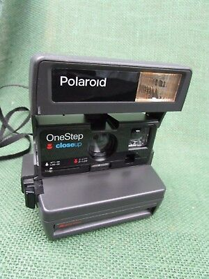 Vintage Polaroid One Step Close Up Camera Flash 600 Film Instant Photo  TESTED A