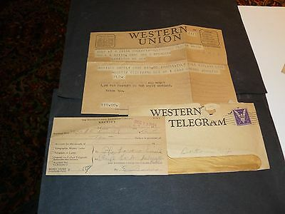 1944 Telegram From American Gi To Wife He Will Be Home Needs $10.00
