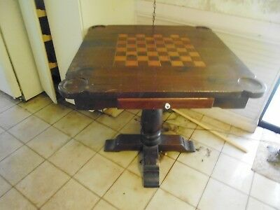 Antique Wooden Gaming Table
