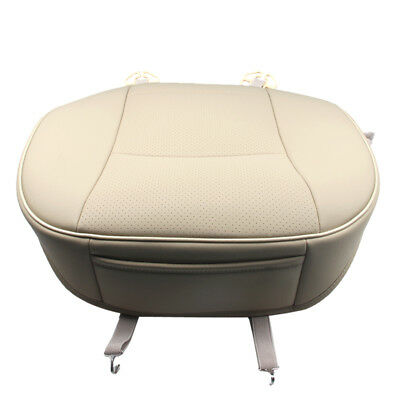 PU Leather Deluxe Car Cover Seat Protector Cushion Beige Front Cover Universal