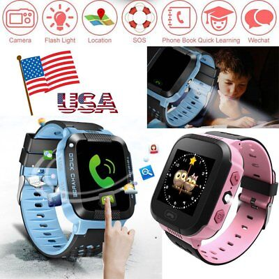 USA Anti-lost Children Safety Tracker Kids Smart Phone GPS Watch For Android IOS