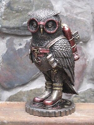 Steampunk Art Collection ~ Steampunk Owl with Goggles and Jetpack