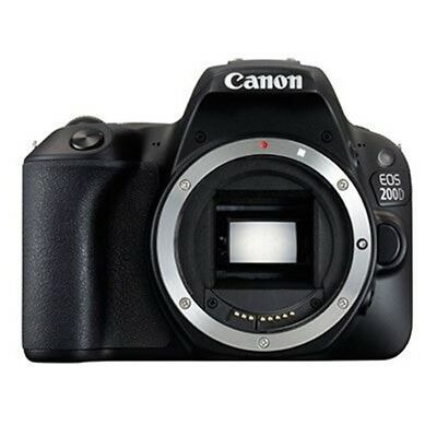 New Canon EOS 200D/ Rebel SL2 Body Only DSLR - Black [KIT BOX] Multi-language