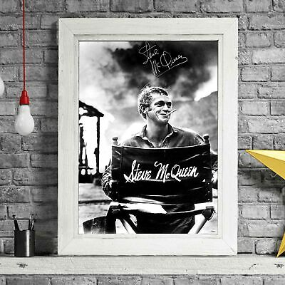 STEVE MCQUEEN HOLLYWOOD MOVIE STAR POSTER PICTURE PRINT Sizes A5 to A0 **NEW**