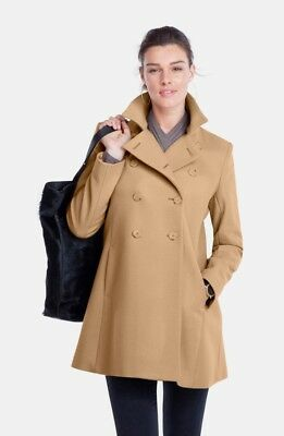 ISABELLA OLIVER 'Alma' Double Breasted Wool Blend Maternity Coat (0) $429+
