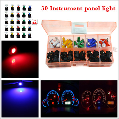 12V 30 Sets Car SUV T5 LED Instrument Panel Cluster Dash Light Mixed Bulb Lights