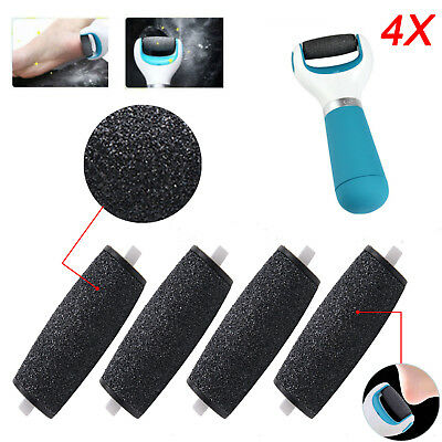 4x Hard Skin Remover pedi Coarse Replacement Rollers Heads for Scholl Velvet