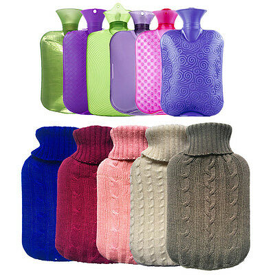 2000ml Large Knitted Hot Water Bag Bottle Useful Cover Case Heat Keeping  Pop