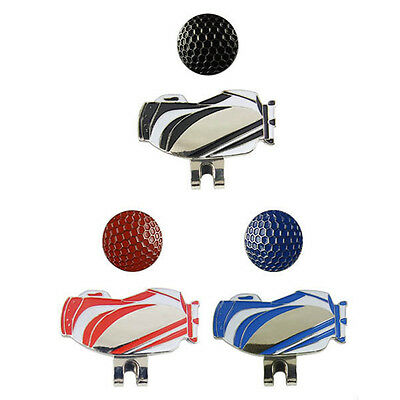 Hot Pattern Logo Golf Ball Marker with Magnetic Hat Clip New!! 42 x 2 mm Pro Pop