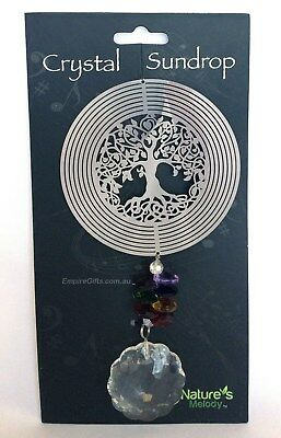 Tree Of Life Cosmo Crystal Chakra Spinner Wind Chime
