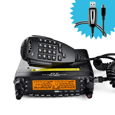 TYT TH-7800 DTMF Dual Band Repeater Car AM/FM Radio+CP-06 Original USB Cable