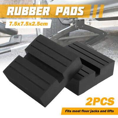2x Universal Car Slotted Trolley Floor Jack Block Rubber Pad Lift Guard Adapter